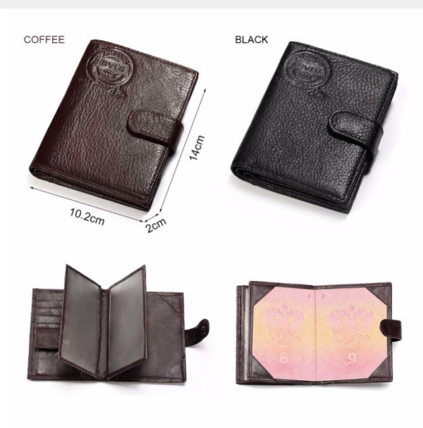 1122 aead08c4a77456eb173ea00bfcb55c96 600x608 - Vertical Leather Wallet with Passport Holder for Men