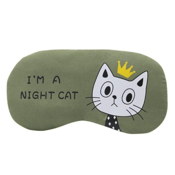 1212 4c43be466dad08e48bc8f0651e03b2d4 600x600 - Flannel Eye Sleeping Mask Cat Print