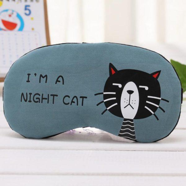 1212 c2c6480c02d2b7b5a0f73bbec2d2de0f 600x600 - Flannel Eye Sleeping Mask Cat Print