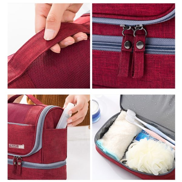 1269 dbf04471d5f8c68cd9795b55a73c0419 600x600 - Waterproof Colorful Oxford Hanging Travel Toiletry Bag