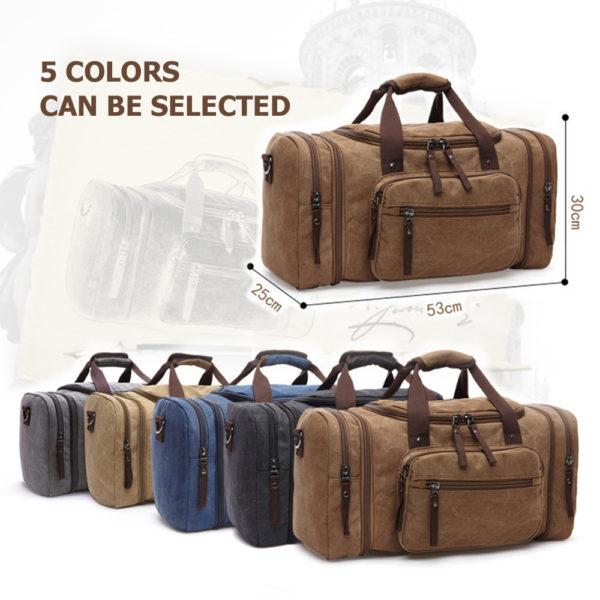 1374 f6d2679558524401486af0667eda7058 600x600 - Canvas Men's Travel Bag