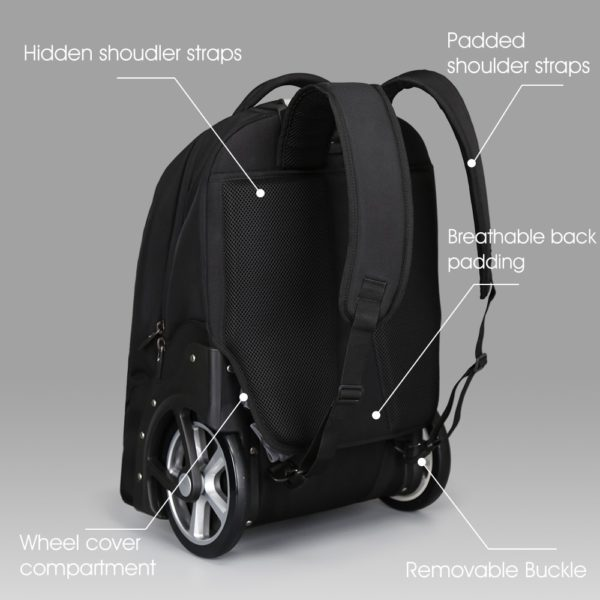 732 eb326140f29053eee6a93a8c09640113 600x600 - Large Capacity Travel Trolley Backpack